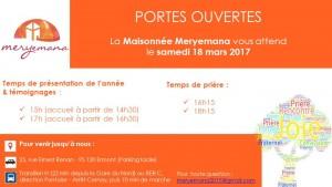 Invitation aux Portes ouvertes de l'année Maryemana- 2017